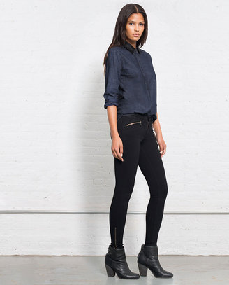 Rag and Bone Classic Shirt w/Leather - Tinted Resin