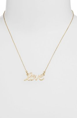 Stephan & Co 'Love' Script Necklace (Juniors)