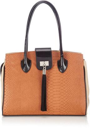 Wallis Tan Snake Tassel Tote Bag