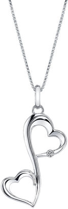 FINE JEWELRY Love Grows Diamond-Accent Sterling Silver Heart Pendant Necklace $145.81 thestylecure.com