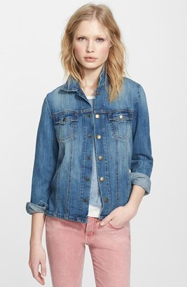 Women's Current/elliott 'The Mechanic' Jean Jacket $278 thestylecure.com