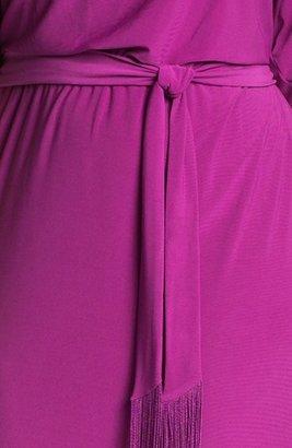Jessica Simpson Cold Shoulder Matte Jersey Blouson Dress (Plus Size)
