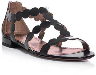 Azzedine Alaia Leather circle-strap sandals