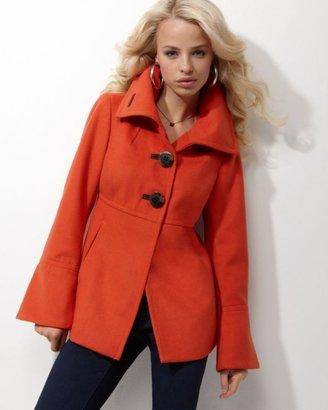Jessica Simpson Coat, Single Breasted Funnel Collar
