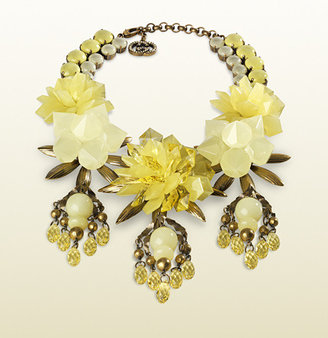 Gucci Necklace With Yellow Flowers Motif