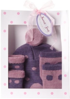 Country Kids Baby-girls Newborn Dotty Hat Set