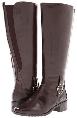 Bouquets Carmel 2 Extra Wide Boot (Brown/Brown Stretch) - Footwear