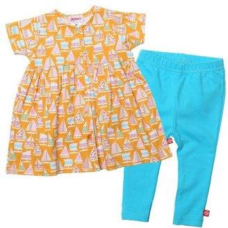 Zutano Baby-Girls Newborn Riviera Short Sleeve Dress and Legging Set
