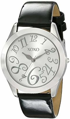 XOXO Women's XO3177 Dial Black Patent Strap Watch