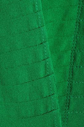 Alexander McQueen Pleated silk crepe de chine shirt dress