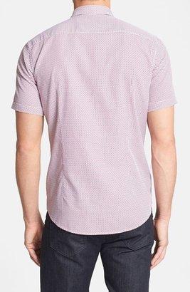 HUGO BOSS 'Marco' Slim Fit Short Sleeve Geometric Print Sport Shirt