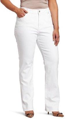 NYDJ Women's Plus-Size Marilyn Straight Leg Jean