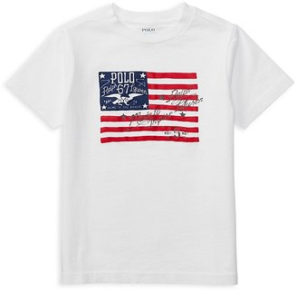 Ralph Lauren Childrenswear Boys' American Flag Graphic Tee - Little Kid