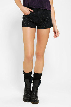 Urban Outfitters Neon Blonde Vixen Eyelet Denim Short