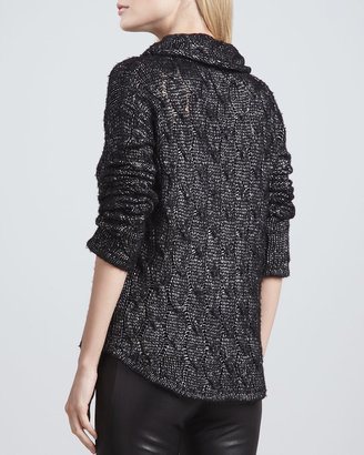 Alice + Olivia Felicia Metallic Knit Sweater