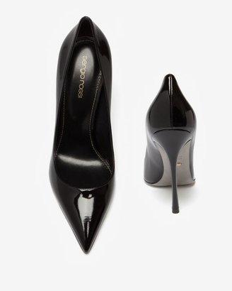Sergio Rossi Godiva Patent Pointy Toe Stiletto: Black
