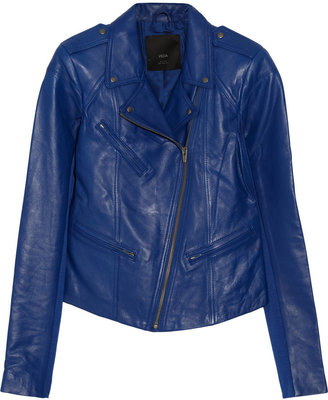 Veda Topaz leather biker jacket