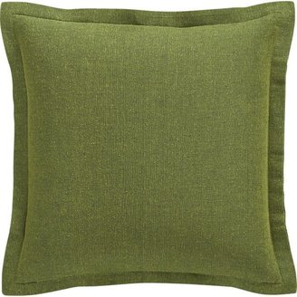Crate & Barrel Skylar Green Pillow with Feather-Down Insert.