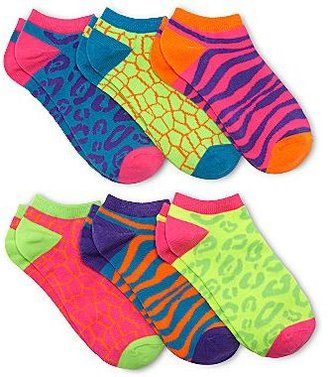 JCPenney No Show Animal Socks - 6 Pair