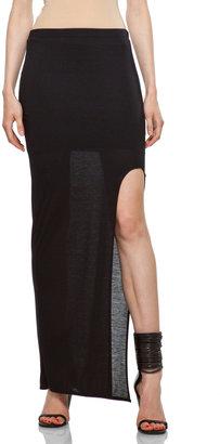 Helmut Lang HELMUT High Slit Skirt in Black