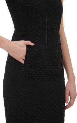 Derek Lam Matellasé Zip-Front Dress