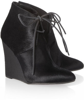 Burberry Shoes & Accessories Calf hair wedge ankle boots