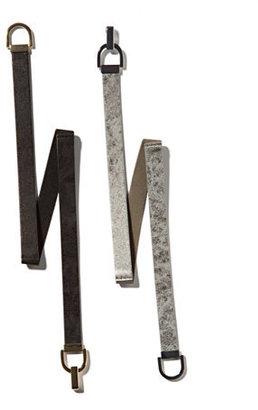 New York & Co. Mixed-Fabric Glitter Belt