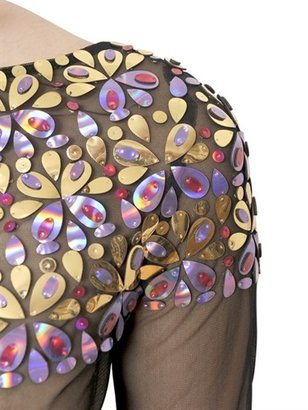 Manish Arora Embroidered Net Top