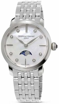 Frederique Constant Slimline Moonphase Stainless Steel Watch, 30mm