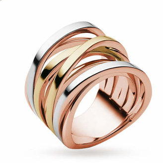 Michael Kors Tri-Tone Layered Ring - Ring Size O