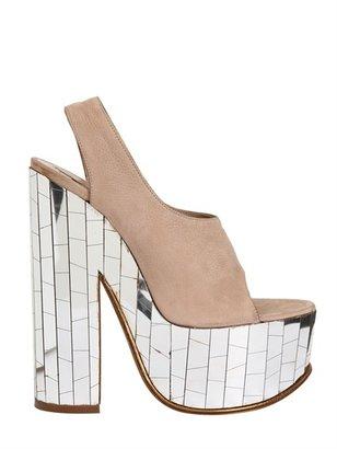 Rochas 150mm Nubuck Mirror Sandals