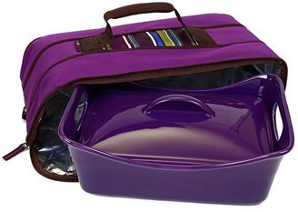 Rachael Ray 3.5-qt. Covered Baker with Insulated Carrier, Eggplant