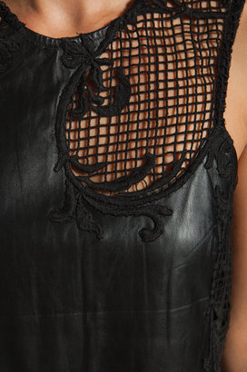 Shakuhachi Leather Embroidered Shift