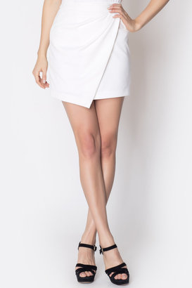 Ankorel Gathered front mini skirt