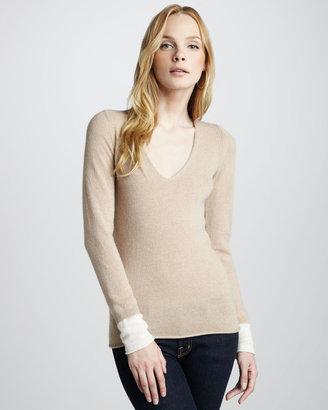 Joie V-Neck Cashmere Sweater