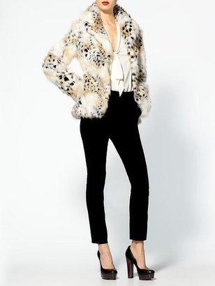 Rachel Zoe Macgraw Fur Jacket WIth Tie