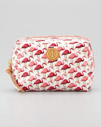 Tory Burch Brigitte Flamingo Cosmetic Case