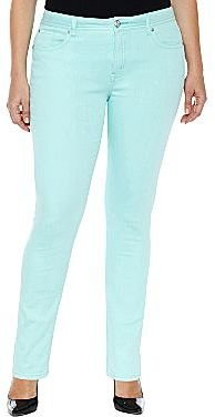 JCPenney a.n.a® Skinny Color Jeans- Plus