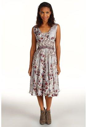 Johnny Was Pleated Waist Dress (Light Floral Multi) - Apparel