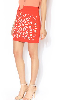 Esley Collection Laser Cut Mini Skirt
