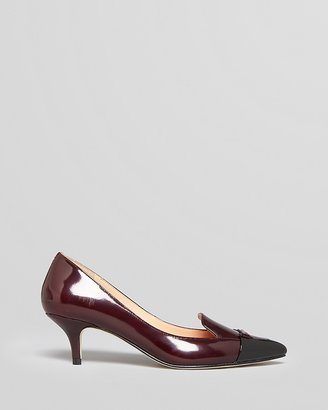 Sigerson Morrison Pointed Toe Cap Toe Loafer Pumps - Pacific Mid Heel