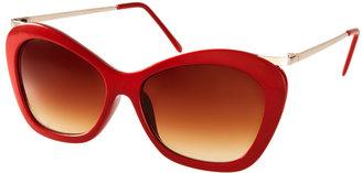 ASOS Chunky Cat Eye Sunglasses With Metal Arm