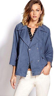 Forever 21 sleek linen jacket