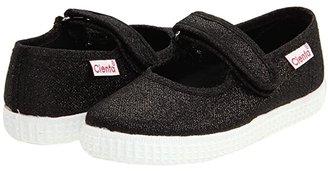 Cienta 56013 (Infant/Toddler/Little Kid/Big Kid) (Black Metallic) Girls Shoes