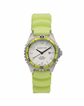 Momentum Women's Quartz Watch | M1 Mini by | Stainless Steel Watches for Women | Dive Watch with Japanese Movement & Analog Display | Water Resistant ladies watch with Date - White / Rubber
