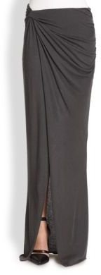 Helmut Lang Lush Asymmetrical Draped & Twisted Maxi Skirt