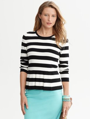 Banana Republic Striped peplum top