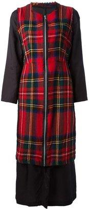 Comme des Garcons Vintage double layer tartan dress