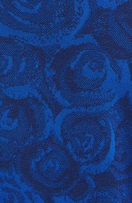St. John Rosette Jacquard Knit Bomber Jacket