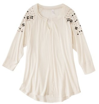 Xhilaration Juniors High Low Studded Knit Top - Assorted Colors